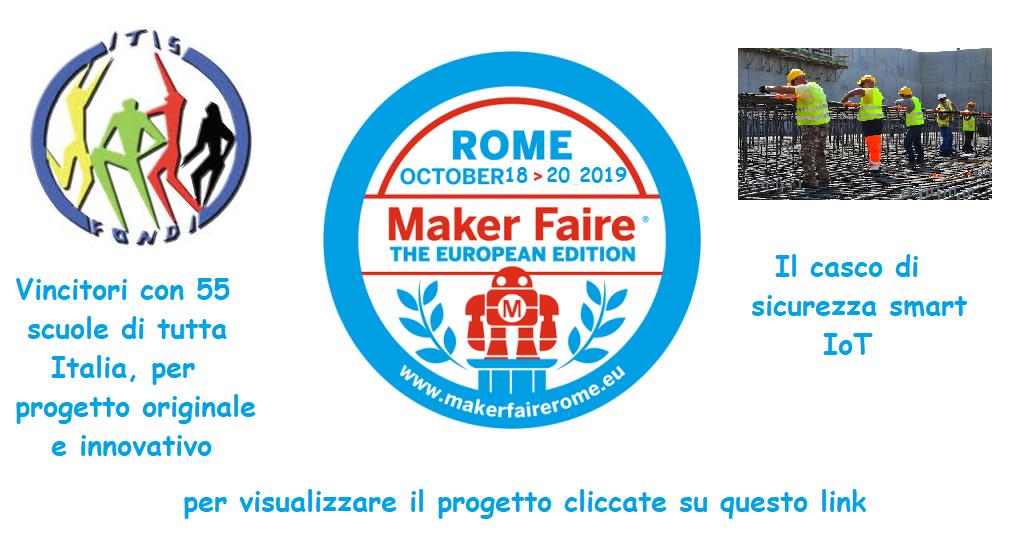 Maker Faire 2019, il Pacinotti ottiene la partecipazione con un progetto innovativo di Casco di Sicurezza Smart IoT